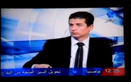 مقابلة تلفزيونية مع رئيس نقابة مستوردي السيارات المستعملة في لبنان, السيّد إيلي قزي على شاشة تلفزيون لبنان.